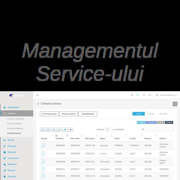 sistem erp Q5 - managementul service -ului