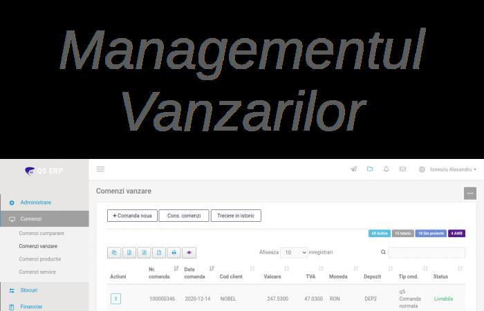 sistem erp Q5 - Managementul vanzarilor